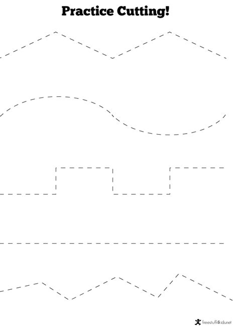 printable practice cutting sheets cutting practice worksheets for preschool 1000 ideas