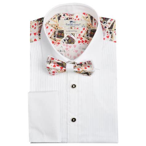 pattern back dress shirts evening dress shirts for men claudio lugli bow tie shirt