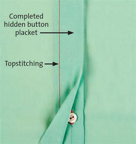 learning to sew a shirt placket cut it out stitch it up how to make a hidden button placket magazine articles