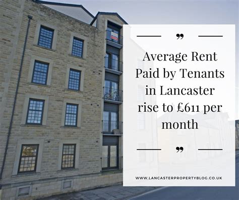 average rent per month the lancaster property blog local property market