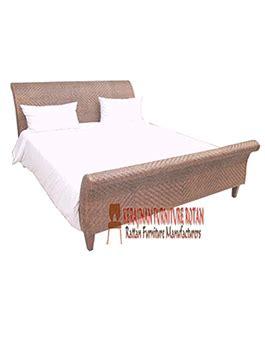 Tempat Tidur Dr Kayu mebel rotan sintesis dipan kerajinan furniture kfr ar 131