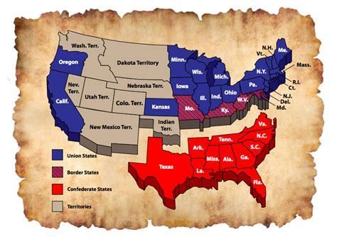 map of united states during civil war american civil war timeline it all