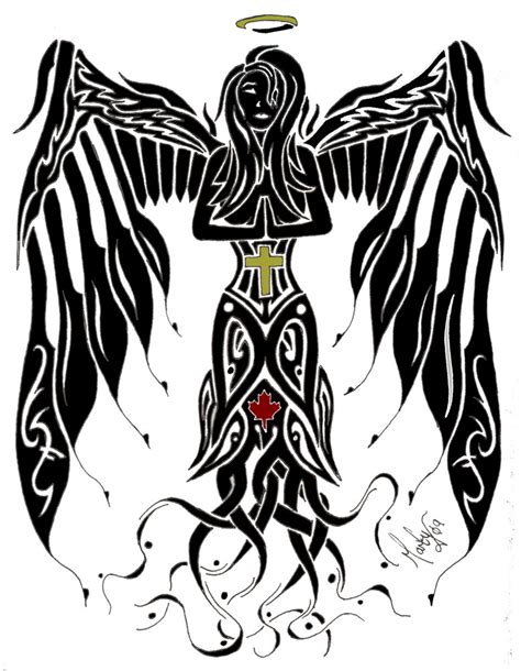 tribal angel by martyw on deviantart