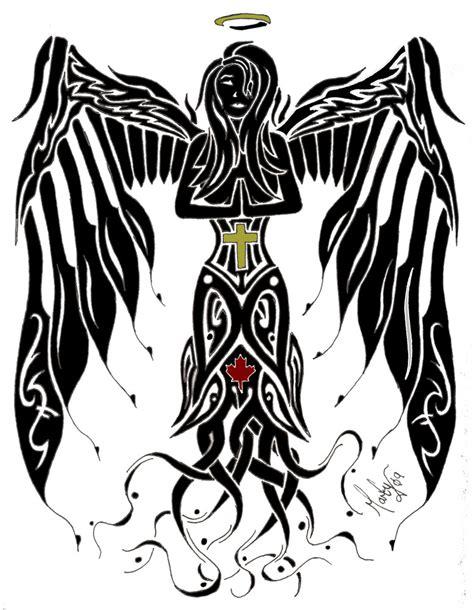 tribal angel by martyw on deviantart