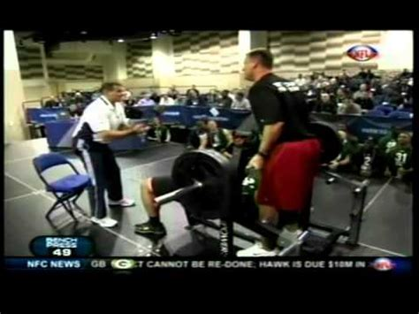bench press combine stephen paea breaking the nfl combine benching record with