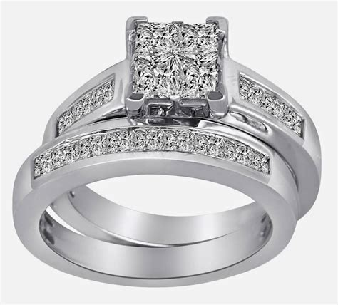 sterling silver thick wedding ring sets jared for his and