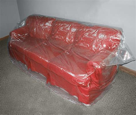 plastic covered couch plastic sofa covers movingblankets com