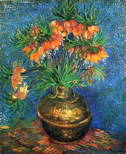 fritillaries in a copper vase vincent van gogh wikiart org