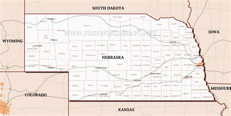 map us nebraska large detailed roads and highways map of nebraska state