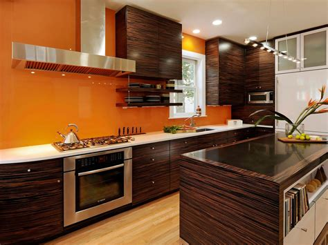 orange kitchen ideas photos hgtv
