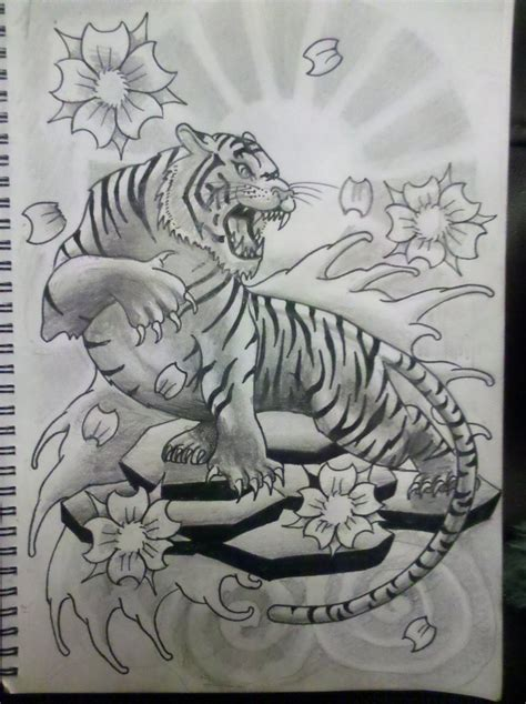 traditional japanese tiger tattoo designs traditional japanese tiger designs tiger in
