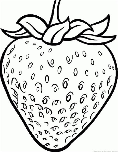 strawberry coloring picture strawberry coloring pages