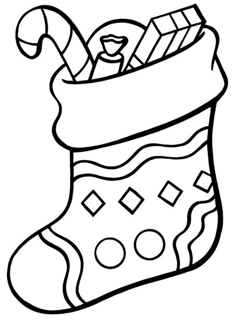 christmas stocking free coloring pages on art coloring pages