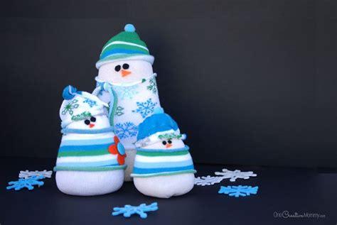 snowman sock yarn yarn tree craft for juggling act