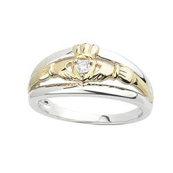 claddagh rings sterling silver 10k gold claddagh ring