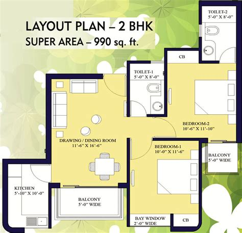 15 Cpw Floor Plans by 100 Central Park 1 Gurgaon Floor Plans 1230 Sq Ft 3