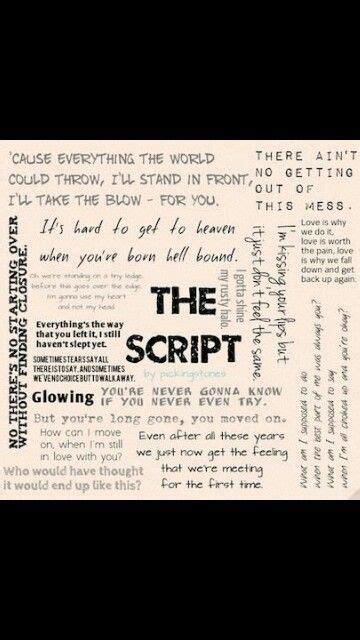 the script lyric quotes the script song quotes quotesgram