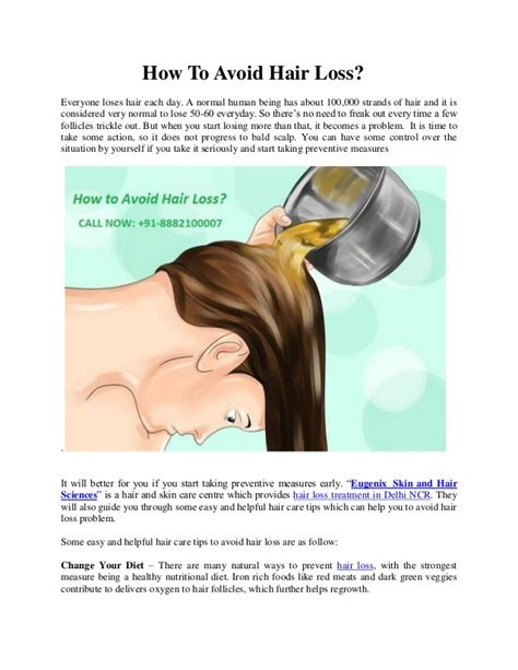 10 Tips On How To Prevent Hair Loss by How To Avoid Hair Loss