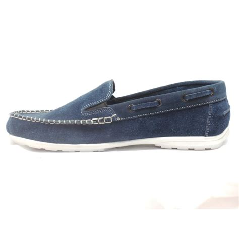 lotus mens navy suede slip on casual shoe lotus from