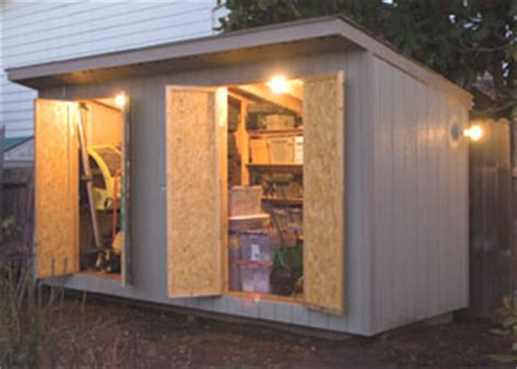 wiring  garden shed extreme