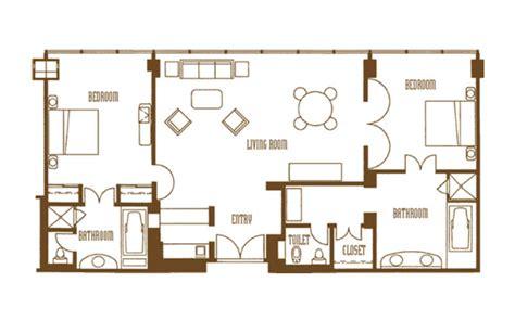 mirage two bedroom tower suite mirage 2 bedroom tower suite floor plan