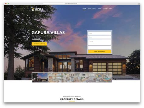 decorating websites for homes 40 best real estate wordpress themes for agencies