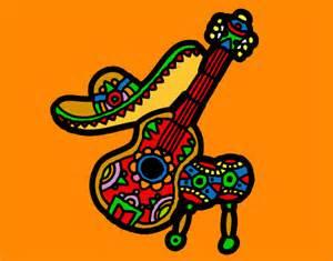 Mexico Decorations Zarapes Mexicanos Dibujo De Instrumentos Mexicanos