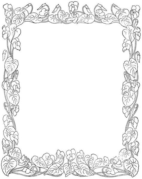 free printable coloring page borders flower borders patterns patrones and adult coloring