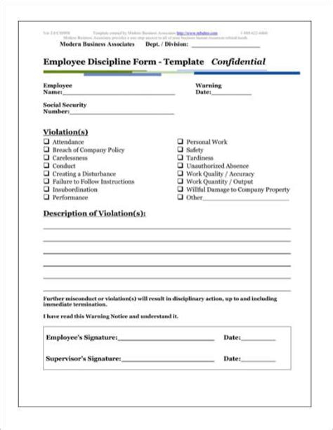 disciplinary forms for employees template 26 employee write up form templates free word pdf doc