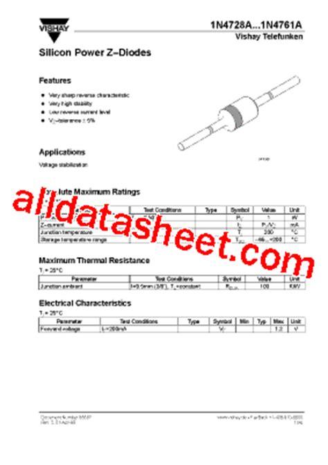transistor datasheet vishay 1n4744a datasheet pdf vishay siliconix