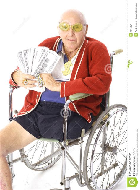Win Lots Of Money Free - handicap man with lots of money stock images image 4011834