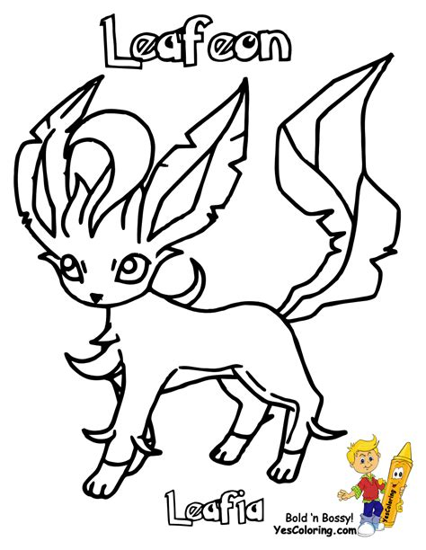 Pokemon Coloring Pages Of Leafeon | pokemon leafeon coloring pages coloring pages