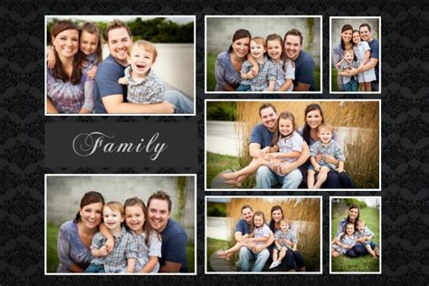 Family Photo Collage Templates Custom Holiday Family Gift Ideas Design Studio