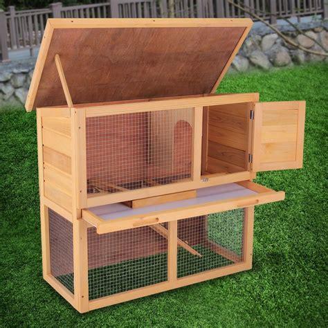 waterproof house 36 quot waterproof wood wooden rabbit hutch chicken coop hen house poultry pet cage ebay