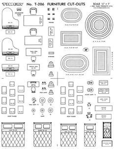 Free Printable Furniture Templates Furniture Template Decorations Pinterest Free Furniture Placement Templates Free
