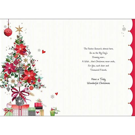 luxury christmas card jj8800 special friends tree
