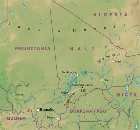 physical map of mali timbuktu physical features jaredbowen
