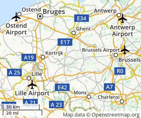 map of belgium airports cheap flights to bruges belgium euroflights info