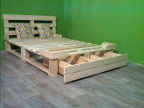 Euro Platform Bed Pallet Bed With Storage Plans Recycled Things