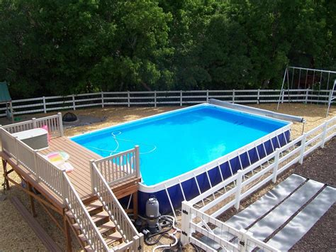 swimming pool decking swimming pool deck ideas for portable pools and above