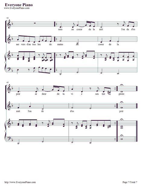 tutorial piano vois sur ton chemin vois sur ton chemin les choristes ost stave preview 7