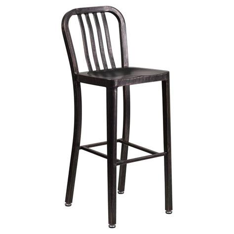 Metal Indoor Outdoor Bar Stools indoor outdoor metal bar stool in black finish