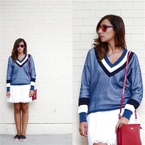 White Basic Flip Skort rodriguez lacoste sweater lacoste bag superdry