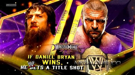 theme song wrestlemania 30 wwe wrestlemania 30 match card daniel bryan vs triple h