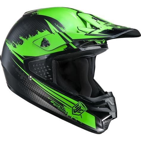 green motocross helmets hjc cs mx zealot green motocross helmet sports race cross