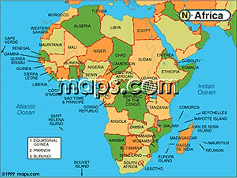 africa map for students merchant maps