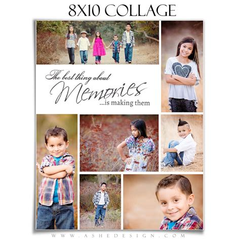 Family Collage Template Tomorrow S Memories 1 8x10 8x10 Photoshop Template