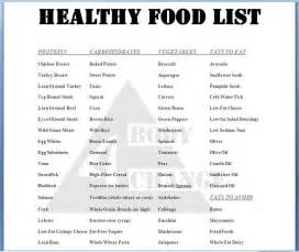 healthy food list information on happy healthy news