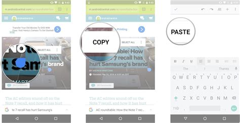 how to copy and paste on android phone how to use copy and paste on android android central