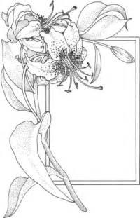 Ausmalbild Blume Und Rahmen  Ausmalbilder Kostenlos Zum Ausdrucken sketch template